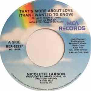 Nicolette Larson - That's More About Love